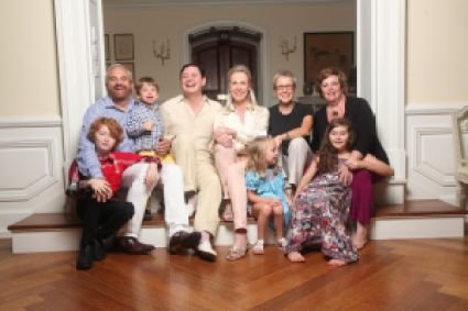 The whole gang with Dr. Solomon's husband's two biological kids and their mothers.