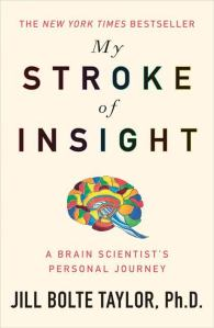 In her book Dr Taylor tells of her experience of having a stroke in her left hemisphere, and how that gave her insight into brain functioning, particularly as it relates to the different functions of the two brain hemispheres. It is Taylor's first book.